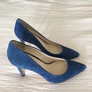 Banana Republic Shoes - Banana Republic Blue suede heels size 7.5